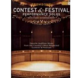 Image for Contest and Festival Performance Solos for Trombone (Book and CD) from SamAsh
