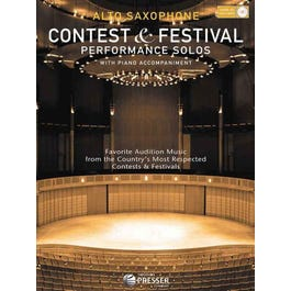 Carl Fischer ,Contest and Festival Performance Solos for Alto Sax (Book and CD)