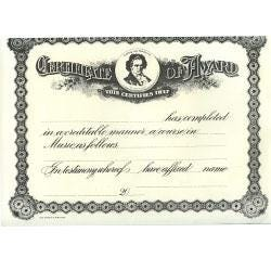 Image for Certificate of Award from SamAsh