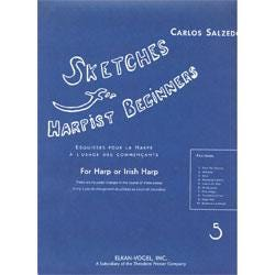Image for Sketches for Harpist Beginners-Carlos Salzedo from SamAsh