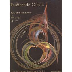 Image for Carulli Solo and Variations on Nel Cor Op 107 (Guitar) from SamAsh