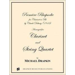 Carl Fischer Debussy-Premiere Rhapsodie - Cl. And & String quartet