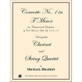 Carl Fischer Weber Clarinet Concerto No. 1 in F Minor