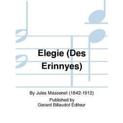 Carl Fischer Massenet-Elegie (Des Erinnyes) FL/PA