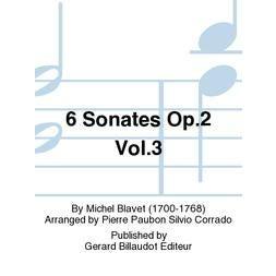 Carl Fischer Blavet-6 Sonates Op.2 Vol.3, Op. 2, Nos. 5 & 6 Sonates 5 Et 6