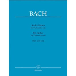 Carl Fischer Bach-Six Suites for Violoncello Solo, BWV 1007-1012