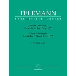 Carl Fischer Telemann-Twelve Fantasias for Violin Without Bass,