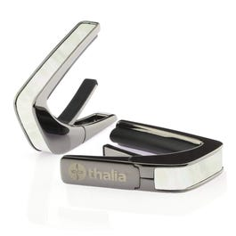 Thalia B200-MP Capo 200 in Black Chrome Finish with White Mother of Pearl Inlay