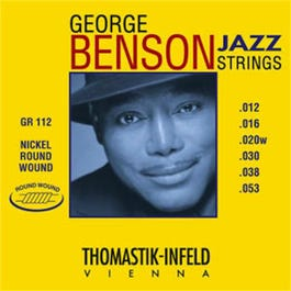 Image for GR112 George Benson Roundwound Jazz Electric Guitar Strings (12-53) from SamAsh