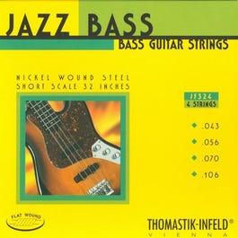 "Thomastik JR324 Jazz Round Wound, 32"" Short Scale Electric Bass String Set, 42-93"