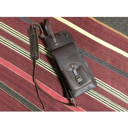 Tackle Instrument Supply Co. Leather Stick Case with Stick Stand - Brown