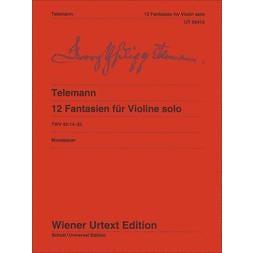 Carl Fischer Telemann-12 Fantasies for Violin