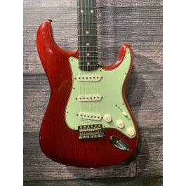 Fender Custom Shop 1960 Relic Jason Smith Masterbuilt Stratocaster Electric Guitar (Aged Trans Cherry)