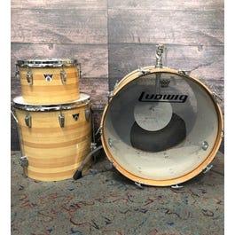 Ludwig Combo 3-Piece Drum Set (Butcher Block)