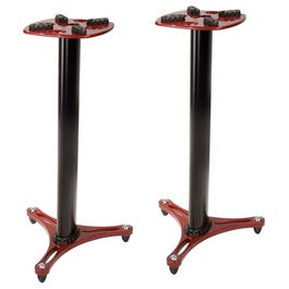 """Ultimate Support MS-90/36R 36"""" Red Column Studio Monitor Stands, Pair"""
