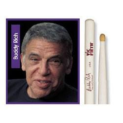 Image for BR Buddy Rich Signature Hickory Wood Tip Drumsticks from SamAsh