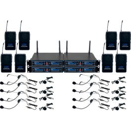 Image for UDH-PLAY-8 Wireless Headset/Lapel Microphone System from SamAsh