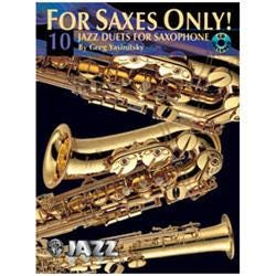 Image for For Saxes Only! 10 Jazz Duets for Saxophone from SamAsh