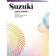 Alfred Suzuki Viola School Piano Accompaniement Volume A (contains Volumes 1 & 2)