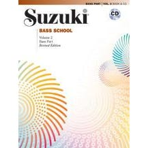 Alfred Suzuki Bass School, Volume 2  International Edition-String Bass Book & CD