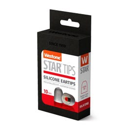 Westone Star Silicone Eartips, 14mm, 5 Pair Pack