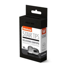 Westone Star Silicone Eartips, 12mm, 5 Pair Pack