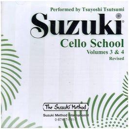 Image for Suzuki Cello School Volume 3 and 4 (CD) from SamAsh