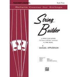 Alfred String Builder, Book III -Teacher's Manual Book
