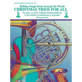 Alfred Christmas Trios for All-B-flat Trumpet, Baritone T.C. Book