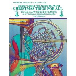 Alfred Christmas Trios for All -Trombone, Baritone B.C., Bassoon, Tuba Book