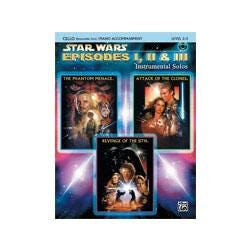 Image for Star Wars Episodes I II and III for Cello (Book and CD) from SamAsh