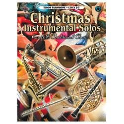Image for Christmas Instrumental Solos Level 2-3 Book & CD (Tenor Sax) from SamAsh