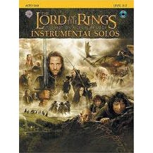 Alfred Lord Of The Rings Instrumental Solos Book & CD (Alto Sax)