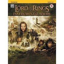 Alfred Lord Of The Rings Instrumental Solos-Trombone -Book & CD