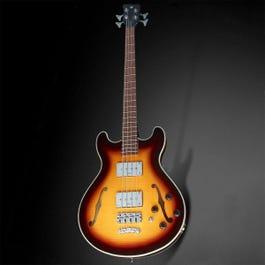 Image for Rockbass Star Bass Flamed Maple Semi-Hollow Body Bass Guitar from SamAsh