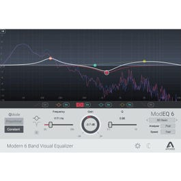 Image for ModEQ 6 Modern 6 Band Visual Equalizer Plug-In from SamAsh