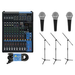 Image for 12-Channel Mixer Package with Microphones