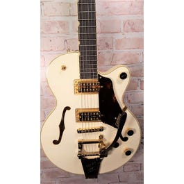 Gretsch G6659TG Players Ed. Broadkaster Jr. Semi-Hollow Electric Guitar Vintage White