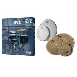 "Zildjian ""Quiet Pack"" Low Volume Cymbal set w/ Remo Silentstroke Mesh Drum Heads"