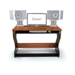 ZAOR MIZA Jr. Compact Workstation Desk, Black Cherry