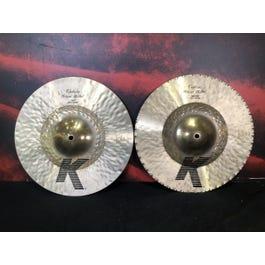"Zildjian K Custom Hybrid 13 1/4"" Hi Hat Cymbals"