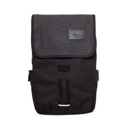 Image for Gray Flap Black Laptop Backpack from SamAsh