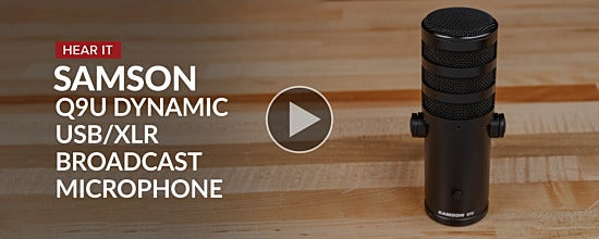 Samson Q9U Dynamic Broadcast Microphone | Overview