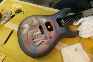 Guitar being made for King Crimson guitarist Jakko Jakszyk