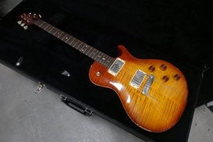 """Dave Baksh of Sum 41's PRS Singlecut he used in the music video for """"In Too Deep"""""""