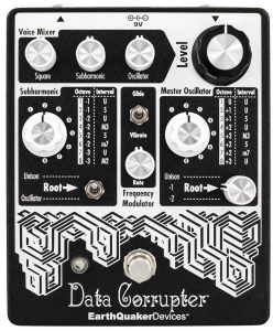 EarthQuaker Devices Data Corrupter Modulated Monophonic PLL Harmonizing Guitar Effects Pedal