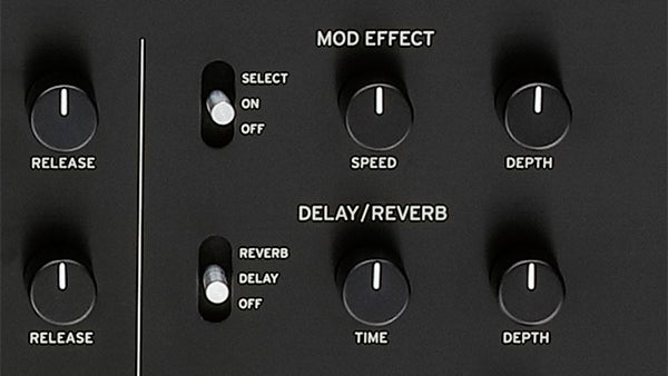 mod and delay knobs