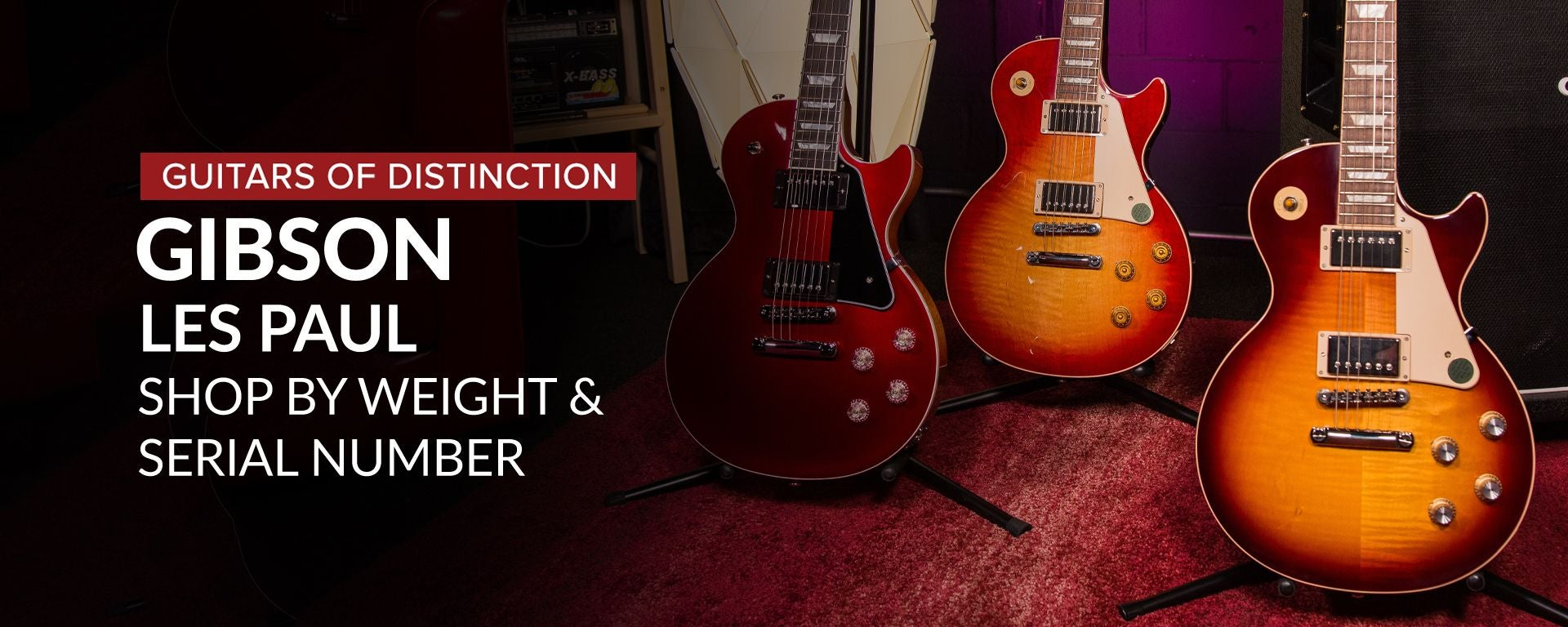 Shop Gibson Les Paul Guitars by Weight and Serial Number at Sam Ash