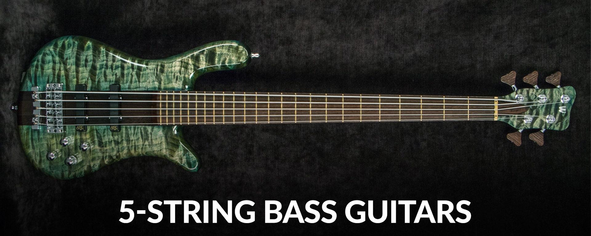 Shop 5-string electric bass guitars at Sam Ash