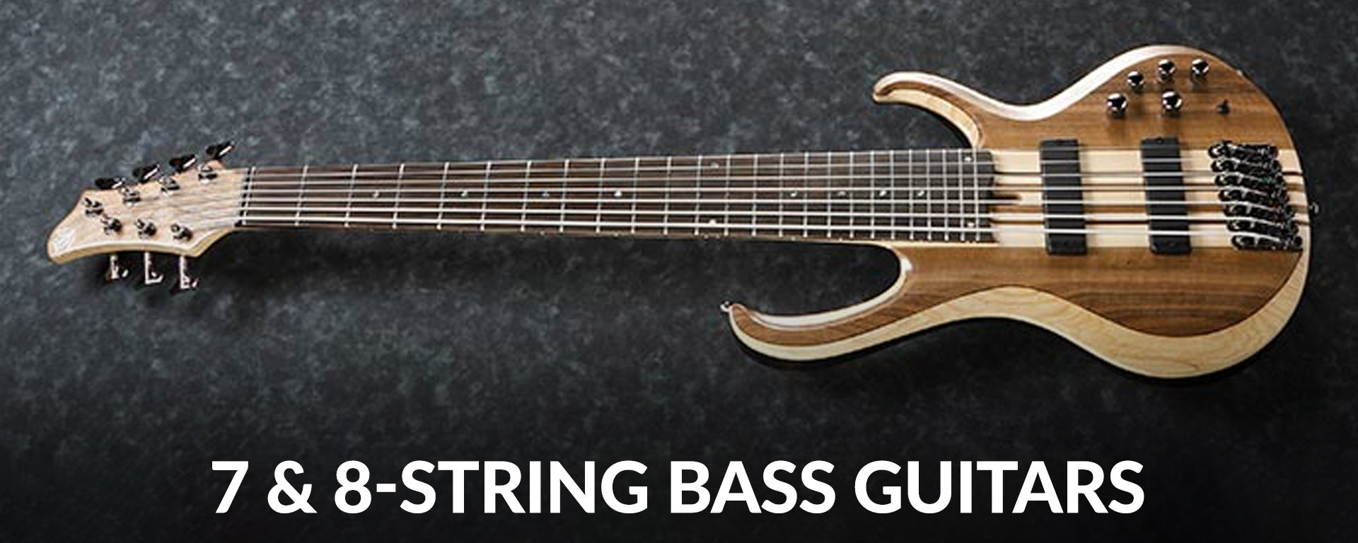 Shop 7 and 8-string electric bass guitars at Sam Ash